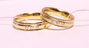 Vestuviniai žiedai Nr.139(klasikiniai, iš geltono,raudono arba balto aukso)