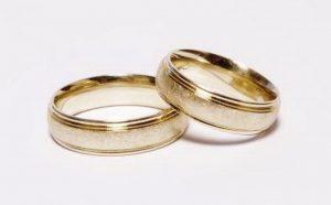 Vestuviniai žiedai Nr.140 (iš geltono, balto arba raudono aukso, matiniu paviršiumi)