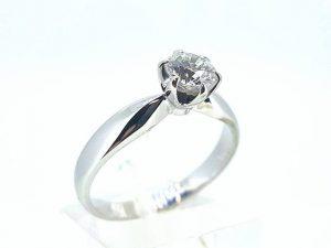Sužadėtuvių žiedas Nr.141 (su briliantu, iš balto, geltono arba raudono aukso)