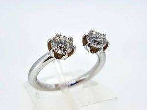 Sužadėtuvių žiedas Nr.143 (su briliantais, iš aukso)