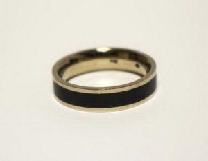 Vestuviniai žiedai Nr.144(iš geltono, balto arba raudono aukso, su emale)