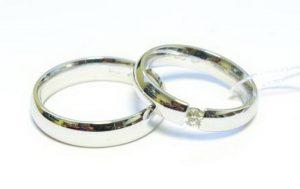 Vestuviniai žiedai Nr.149 (siauri, iš balto, raudono arba gelto aukso)