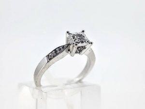 Sužadėtuvių žiedas Nr.152 (su briliantais, iš balto arba kitos spalvos aukso)