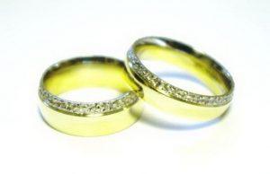 Vestuviniai žiedai Nr.152 (iš geltono, raudono arba balto aukso, dekoruotu kraštu)
