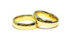 Vestuviniai žiedai Nr.153 (klasikiniai, iš dviejų spalvų aukso)