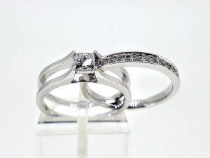 Sužadėtuvių žiedas Nr.154 (2 dalių, iš aukso su briliantais)