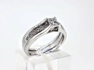 Sužadėtuvių žiedas Nr.155 (2 dalių, iš aukso, su briliantais)