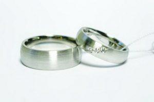 Vestuviniai žiedai Nr.155 (iš platinos arba balto aukso)