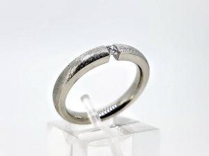 Sužadėtuvių žiedas Nr.157 (su briliantu, iš balto arba kitos spalvos aukso)