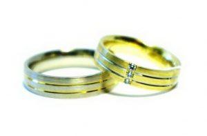 Vestuviniai žiedai Nr.157 (pora- iš skirtingų spalvų aukso)