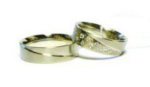 Vestuviniai žiedai Nr.159 (iš platinos arba balto aukso, mot.-su briliantais)