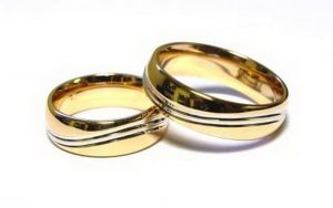 Vestuviniai žiedai Nr.160 (platūs, iš raudono arba geltono aukso)