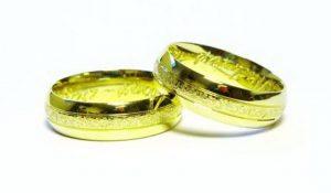 Vestuviniai žiedai Nr.161 (iš geltono, balto arba raudono aukso, dekoruotu centru)