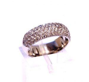 Vestuviniai žiedai Nr.167 (iš balto, geltono arba raudono aukso, su brangakmeniais)