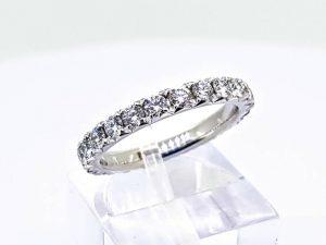 Sužadėtuvių žiedas Nr.168 (iš balto arba kitos spalvos aukso, su briliantais)