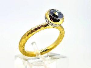 Sužadėtuvių žiedas Nr.169 (su deimantu, iš aukso)