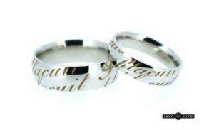 Vestuviniai žiedai Nr.171 (iš balto,geltono arba raudono aukso, su užrašais)
