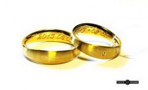 Vestuviniai žiedai Nr.175 (iš geltono arba raudono aukso, matiniu paviršiumi)