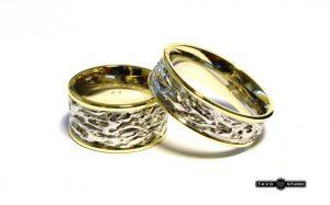 Vestuviniai žiedai Nr.176 (iš platinos ir geltono aukso)