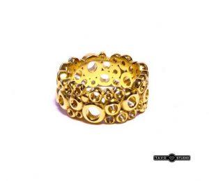 Vestuviniai žiedai Nr.179 (iš geltono, balto arba radono aukso, sujungti iš rutuliukų)