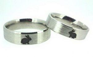 Vestuviniai žiedai Nr.186 (iš balto aukso, su pasirenkamu atvaizdu)
