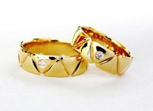 Vestuviniai žiedai Nr.192 (iš geltono, balto arba raudono aukso)