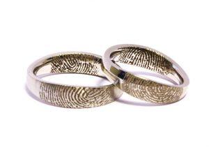 Vestuviniai žiedai Nr.218 (iš platinos, su pirštų anspaudais)