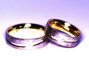 Vestuviniai žiedai Nr.221 (iš geltono ir juodojo aukso)