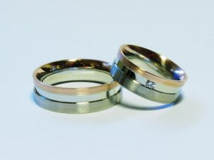 Vestuviniai žiedai Nr.229 (iš trijų spalvų aukso)