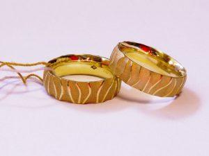 Vestuviniai žiedai Nr.231 (iš geltono, raudono,arba balto aukso)