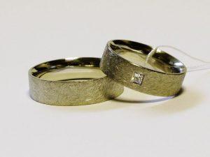 Vestuviniai žiedai Nr.234 (iš balto, geltono arba raudono aukso, matiniu paviršiumi)