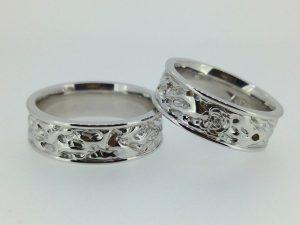 Vestuviniai žiedai Nr.235 (iš platinos arba balto aukso)