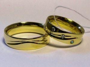 Vestuviniai žiedai Nr.243 (iš geltono, balto arba raudono aukso)