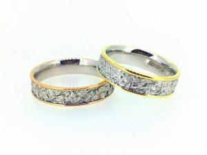 Vestuviniai žiedai Nr. 249 (iš dviejų spalvų aukso)
