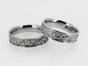 Vestuviniai žiedai Nr. 251 (iš balto,geltono arba raudono aukso)