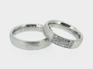 Vestuviniai žiedai Nr. 252 (iš platinos arba aukso, mot.-su briliantais)