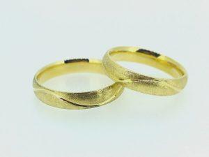 Vestuviniai žiedai Nr.257 (iš geltono, raudono arba balto aukso)