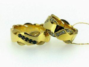 Vestuviniai žiedai Nr.265 ( iš geltono arba kitos spalvos aukso, puošti brangakmeniais)