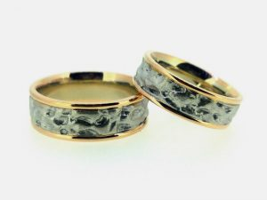 Vestuviniai žiedai Nr.268 ( iš dviejų spalvų aukso)