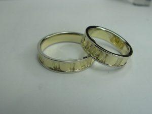 Vestuviniai žiedai Nr.26 (iš pasirinktos aukso spalvos,matiniu paviršiumi)