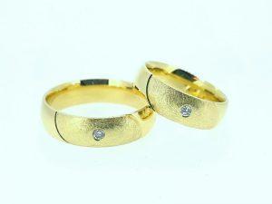 Vestuviniai žiedai Nr.271 (iš geltono, raudono arba balto aukso, su briliantu)