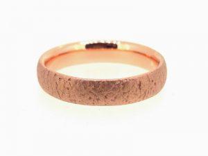 Vestuvinis žiedas Nr.272 (iš rožinio arba kitos spalvos aukso)