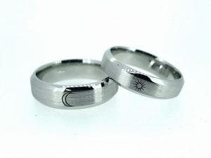 Vestuviniai žiedai Nr.275 (iš platinos arba aukso, su simboliais)