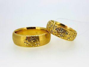 Vestuviniai žiedai Nr.281 (iš geltono, raudono arba balto aukso, mot.- su briliantais)
