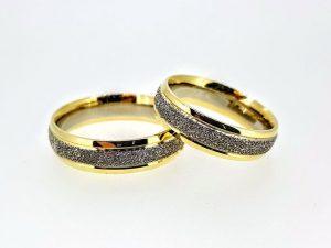 Vestuviniai žiedai Nr.291 (iš geltono ir balto aukso)