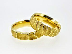 Vestuviniai žiedai Nr.297 (iš geltono, balto arba raudono aukso)