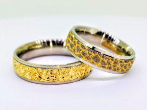 Vestuviniai žiedai Nr.316 ( iš dviejų spalvų aukso )