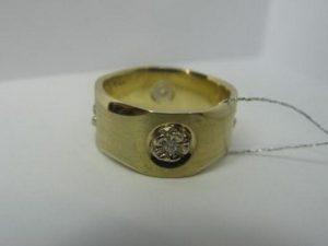 Vestuviniai žiedai Nr.33 (platūs, nelygiais kraštais, reljefiniu dekoru)