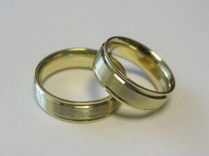 Vestuviniai žiedai Nr.38 (iš geltono, balto arba raudono aukso)