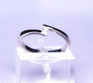 Sužadėtuvių žiedas Nr.40 (iš platinos arba balto aukso, su briliantu)